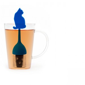 Infuseur thé chat bleu